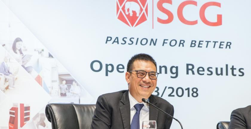 Siam Cement Group (SCG) revealed its 2018 operating results that show overall profit decease from the Chemicals Business