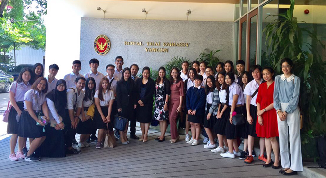 Royal Thai Embassy Briefs University Students on Thai-Myanmar Relations