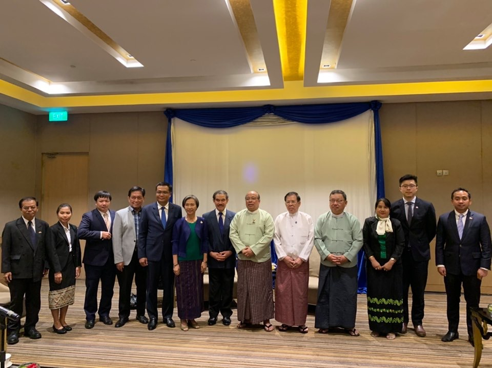 Ambassadors and representatives of Embassies of ASEAN Countries in Myanmar paid a Joint Courtesy Call on H.E. U Thaung Tun,  Union Minister for Investment and Foreign Economic Relations