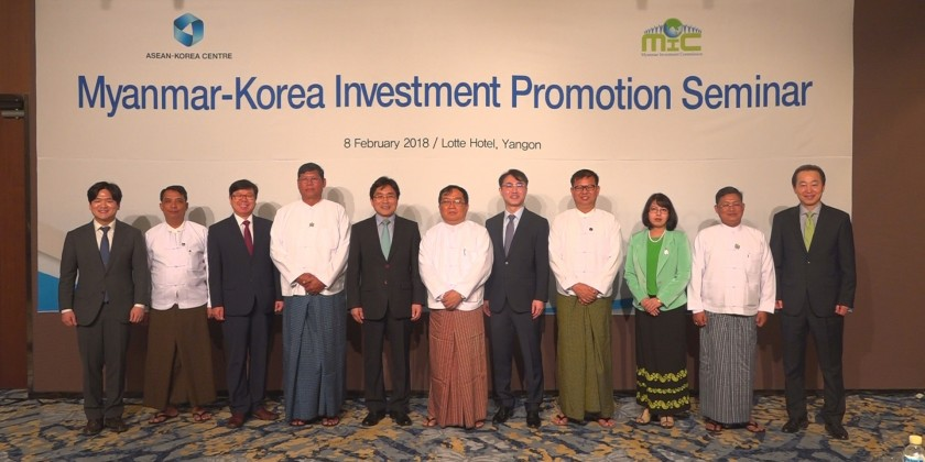 Myanmar-Korea Investment Promotion Seminar was held in Yangon to seek business opportunities and improve win-win partnership between the two countries
