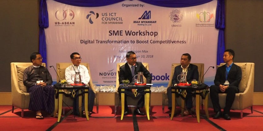 In cooperation with private companies, US- ASEAN Business Council and UMFCCI organized the Conference on Digital Transformation of SMEs in order to boost competitiveness