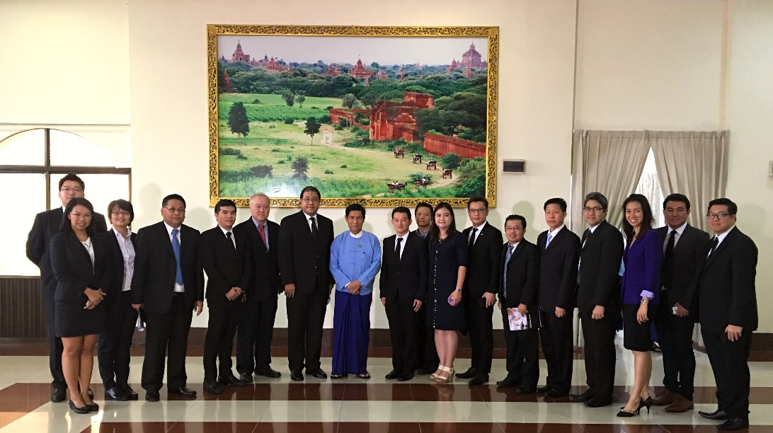 Ambassador leads Thai Business Association of Myanmar (TBAM) to pay a courtesy call on the Union Minister of Industry