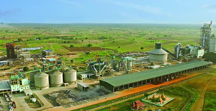 A joint investment company between Yun Nan Jian Sheng Co., Ltd and a local company, Thandaw Myat Co., Ltd set up a new production line, making it the first cement plant to produce 10,000 tonnes per day