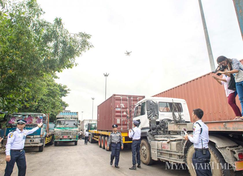 Yangon Government authorities are planning to build a logistics hub and truck terminal at the outskirts of the city aiming to ease congestion
