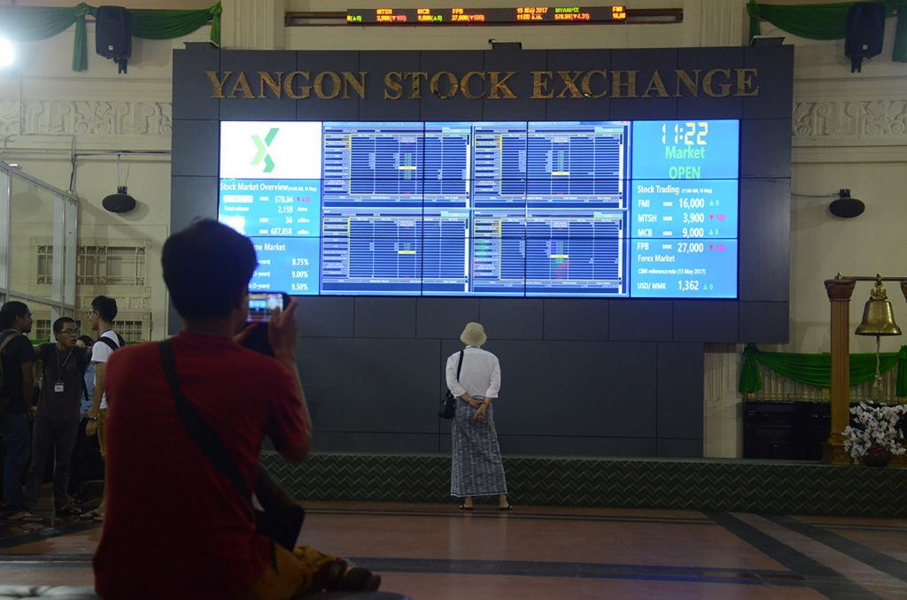 The value of stock trading on the Yangon Stock Exchange (YSX) decreased over K 300 million in July of current fiscal year