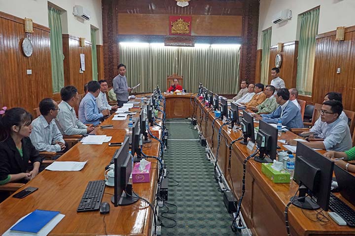 Kayin State Investment Committee granted the permission to Pyi Thu Dana Company to produce and distribute gypsum powder in Kayin State