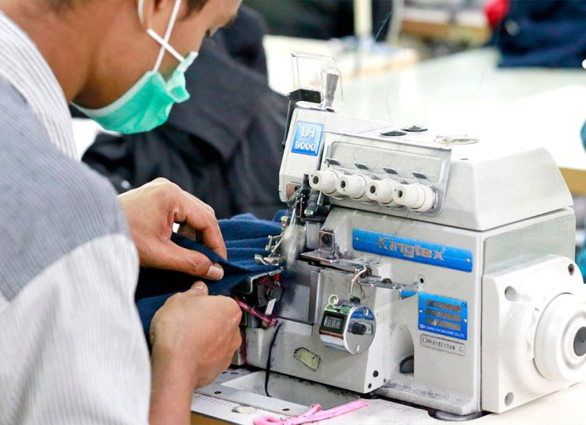 Myanmar's garment sector is on track to meet a target which USD $ 10 billion in exports set under 10 year plan