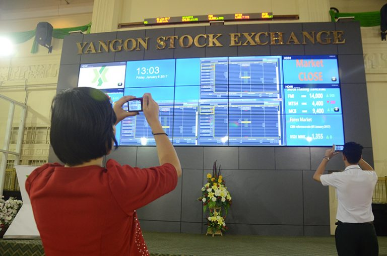 The value of shares trading on the Yangon Stock Exchange (YSX) increased by about K 100 million in June